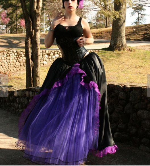 Фатиновая юбка с рюшами