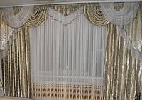 Ламбрекен со шторами для гостиной №243, фото 1