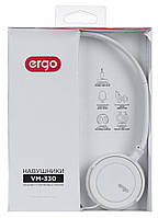 Гарнитура для телефона проводная ERGO VM-330 белая, фото 1
