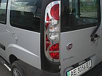 Хром накладки на стопы Fiat Doblo 2006-2010  (Omsa Line) (нержавеющая сталь)