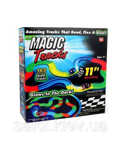 Детский светящийся гибкий трек Magic Tracks: 165 деталей (светящаяся дорога с машинкой Меджик Трек)