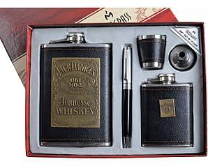 """Подарочный набор """"Moongrass"""" 5в1 Фляги, Ручка, Рюмка, Лейка DJH-1029"""