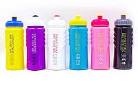 Бутылка для воды спортивная FI-5957-1 500мл 365 NEW DAYS (PE, силикон, желтый-синий-желтый)