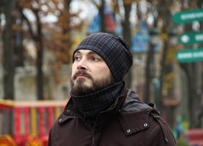 Мужской комплект шапка+шарф бафф I&M - 090211, фото 2