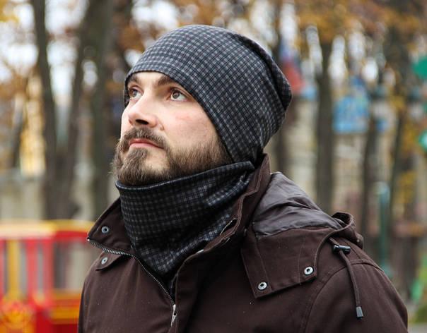 Комплект I&M Craft мужской шапка+шарф бафф (090212), фото 2
