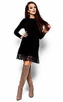 Тепле чорне коктейльне плаття Greison (S-M, M-L)