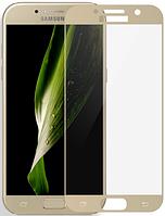 Защитное стекло Full screen Samsung A310 (A3-2016) (Gold)