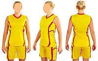 Форма баскетбольная женская Atlanta CO-1101-Y(M) (полиэстер, р-р M-46-48, желтый)