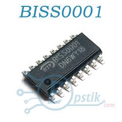 BISS0001, микросхема для датчиков движения, SOP16
