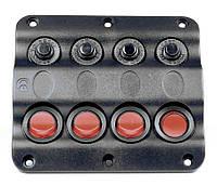 Панель на 4 переключателя 10024-BK