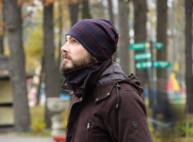 Мужской комплект шапка+шарф бафф I&M - 090213, фото 2