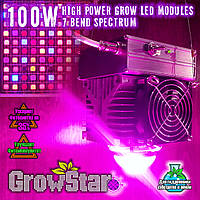 Фитолампа GrowStar 100W. Grow LED Lamp 100W 7 Band Spectrum., фото 1