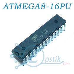 ATMEGA8-16PU, мікроконтролер 8-Біт, 16МГц, 8КБ Flash, DIP-28