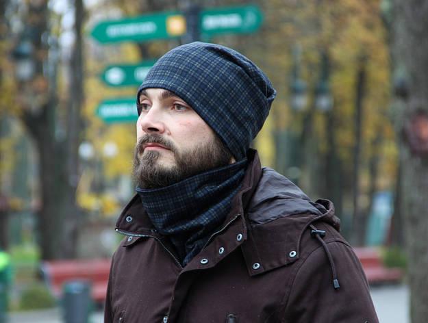 Комплект I&M Craft мужской шапка+шарф бафф (090214), фото 2