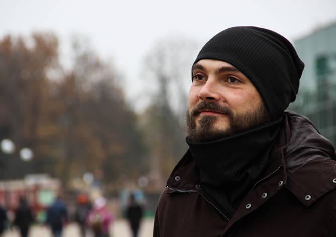 Мужской комплект шапка+шарф бафф I&M - 090215, фото 2