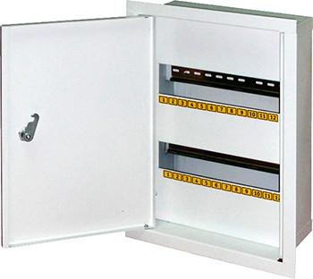 Шкаф распределительный e.mbox.stand.w.24.z под 24 мод. встраиваемый с замком
