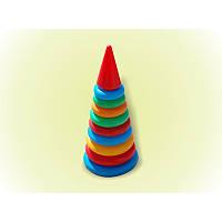 Пирамидка №2 арт.018 34см 9колец