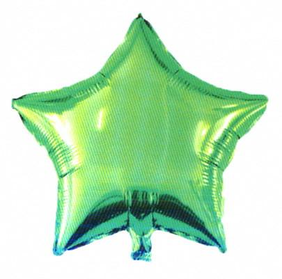 """Шар фольгированный """"Звезда зелёная"""". Размер: 45см."""