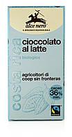 Органический молочный шоколад (36%), Alce Nero, 100 гр