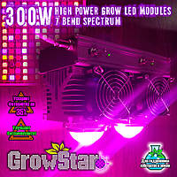 Фитолампа GrowStar 300W. Grow LED Lamp 300W (2X150W) 7 Band Spectrum., фото 1