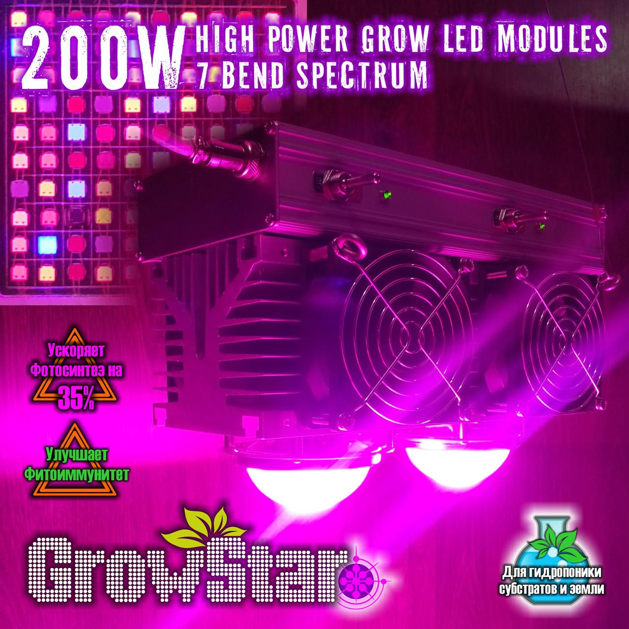 Фитолампа GrowStar 200 W. Grow LED Lamp 200W 7 Band Spectrum.
