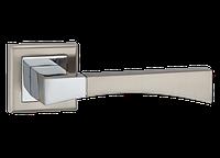 """Дверная ручка на розетке MVM """"TIA"""" Z-1257 SN/CP (матовый никель/полированный хром)"""