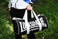 Спортивная сумка лонсдейл,Lonsdale чёрная