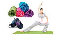 Йога полотенце (коврик для йоги)  (р-р 1,83м x 0,63м, микрофибра+силикон, цвета в ассортименте)
