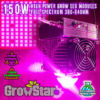 Фитолампа GrowStar 150W Полноспектровая. Grow LED Lamp 150W Full Spectrum 340-840nm.
