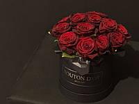 Круглая коробка тубус (шляпная) под цветы