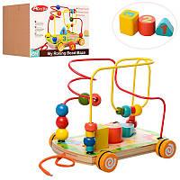 Деревянная игрушка «Лабиринт-каталка на проволоке» MD 1105