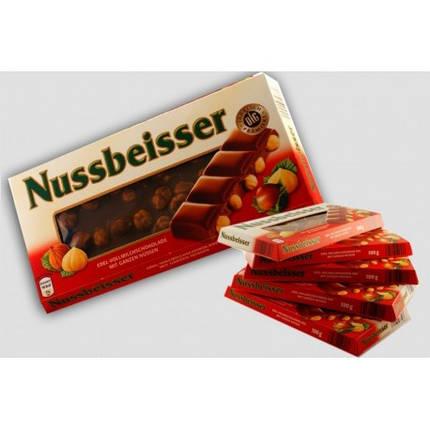Черный шоколад Nussbeisser с лесным орехом 100гр. Германия, фото 2