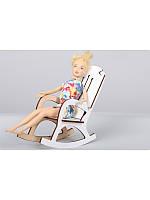 Дерев. Кресло качалка для кукол 009