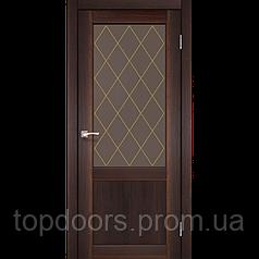 """Двери межкомнатные Корфад """"CL-01 ПО сатин"""" без штапика."""