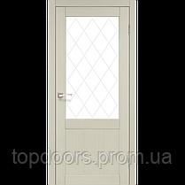 """Двери межкомнатные Корфад """"CL-01 ПО сатин"""" без штапика., фото 2"""
