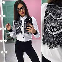 Шёлковая блузочка с кружевом