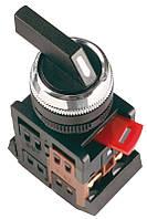 Перемикач ІЕК ALCLR-22 чорний на 3 фікс.положення І-О-2