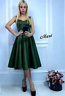 Женское нарядное платье с  юбкой солнце-клеш, в расцветках