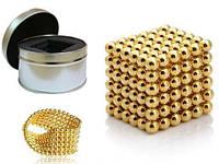 Магнитный Неокуб золотой 216 шариков NeoCube Gold  5 мм.