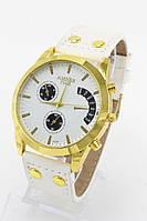 Женские наручные часы Amber Time (золотой корпус, белый ремешок) (Копия), фото 1