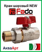Fado кран шаровой с американкой прямой NEW PN40 20 3/4'' ручка бабочка
