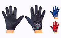 Мотоперчатки текстильные с закрытыми пальцами FOX BC-4641-BL(L) (р-р L, черный-синий)