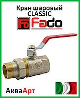 """Fado кран шаровой с американкой прямой  PN40 1*1/4"""" ручка рычаг"""