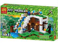 Конструктор Lele 33052 My Word База на водопаде (аналог Lego Майнкрафт, Minecraft 21134)
