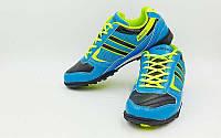 Обувь футбольная сороконожки (р-р 40-45) OB-3385-BL (верх-PU, подошва-RB, синий-черный)