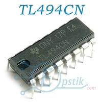 TL494CN, ШИМ контроллер, (KA7500B, КР1114ЕУ4, DBL494), DIP16