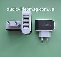 Блок питания USB 5V 1А, 3 гнезда