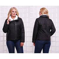 Черная женская куртка плащевка Аляска