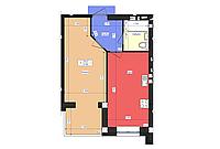 1 комнатная квартира 41,7 метр ЖК «Чайка», улица Академика Сахарова