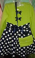 Платье детское юбка горох 92-116 см Венгерский трикотаж Lili Kids